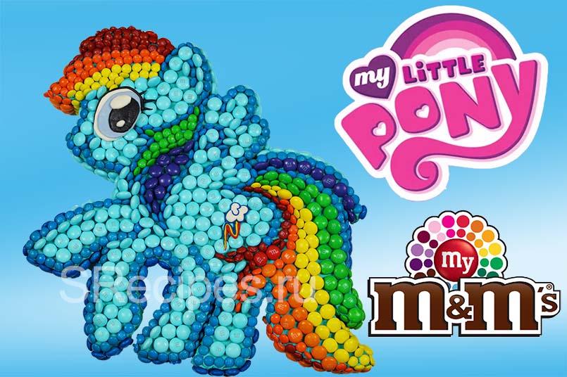 Детский торт Радуга Дэш из M&M's Май Литл Пони