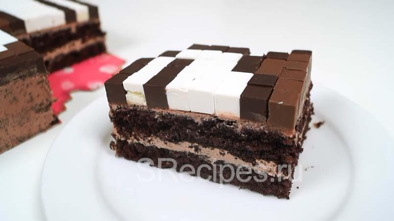 кусочек торта нутелла майнкрафт